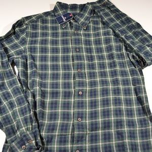ST. JOHNS BAY Button-Up-Front Flannel Shirt Mens S